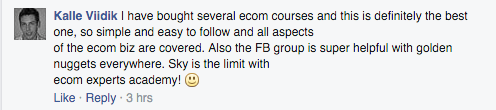 best course, facebook group helpful