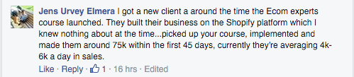 client made 75k in 45 days avg 4 to 6k per day