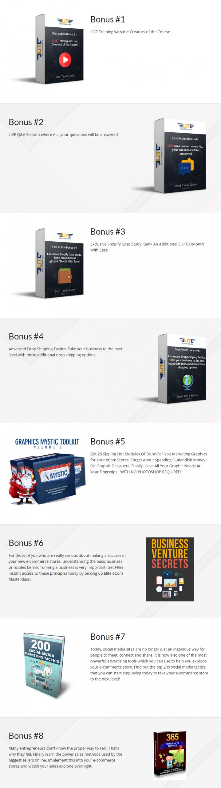 Elite eCom Masterclass bonus