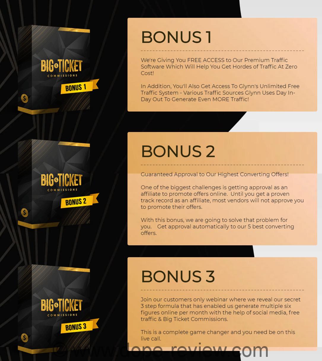 BIG Ticket Commissions Bonus