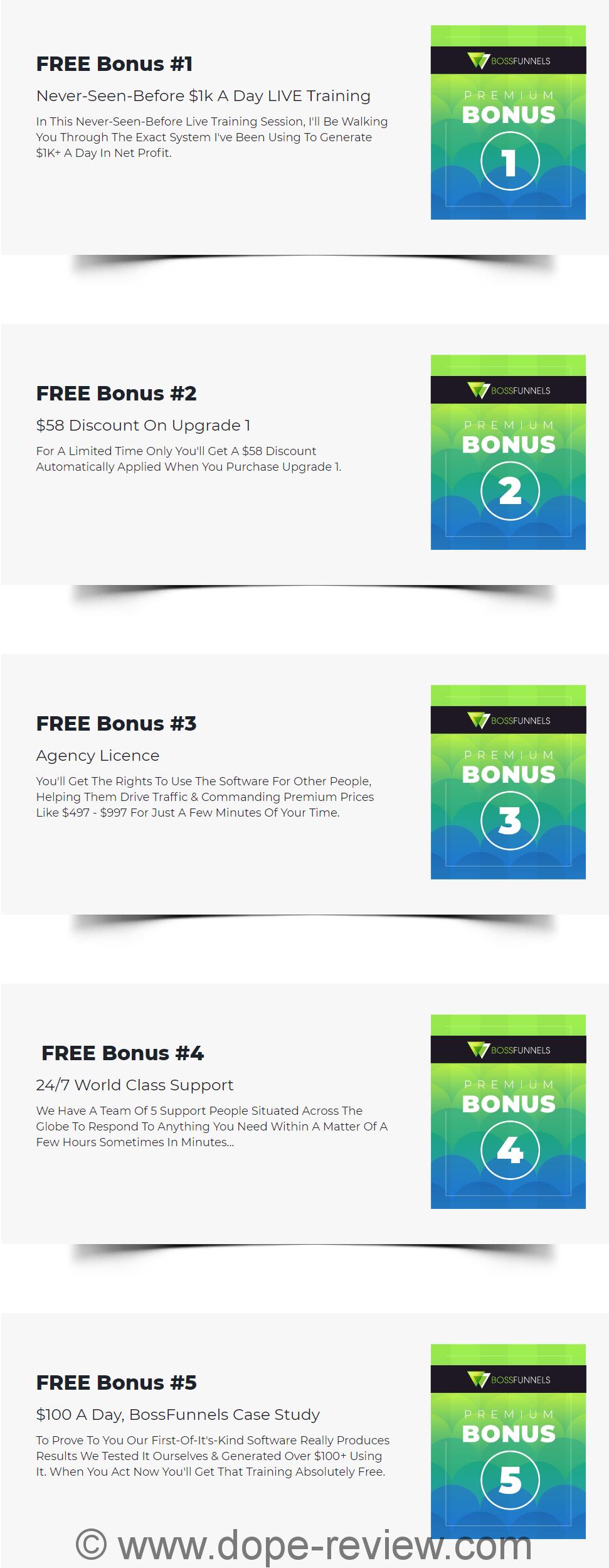 Bossfunnels Bonus