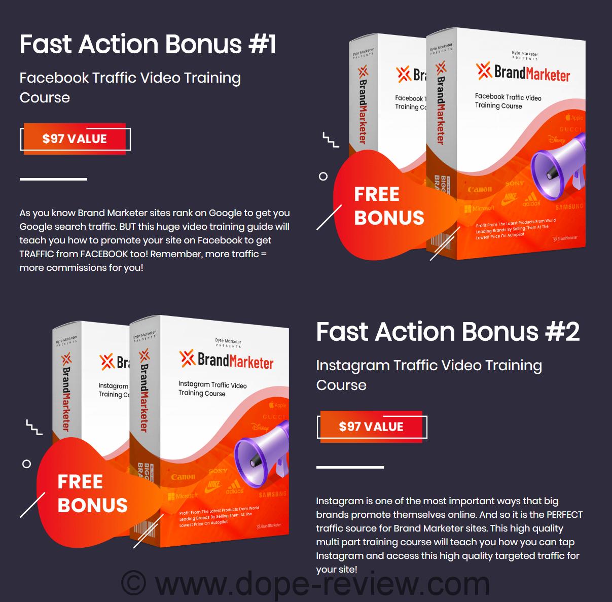 Brand Marketer Bonus