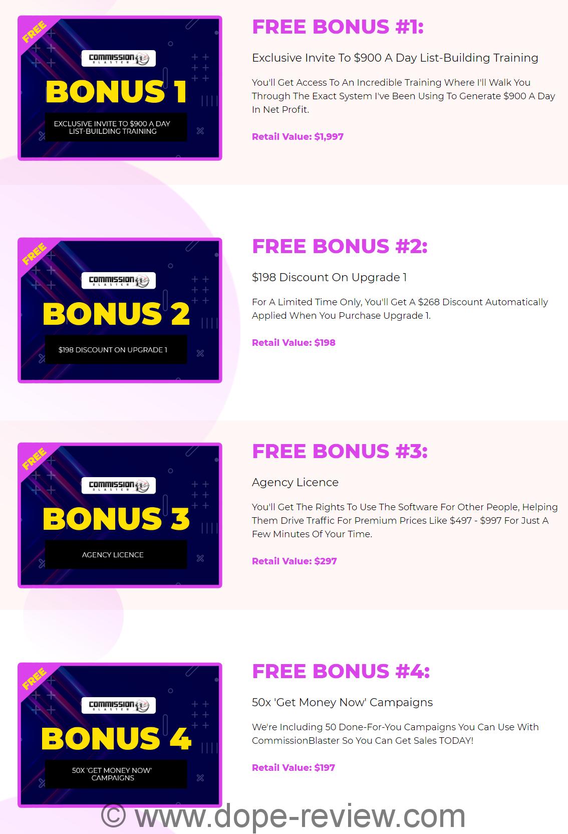 Commission Blaster Bonus