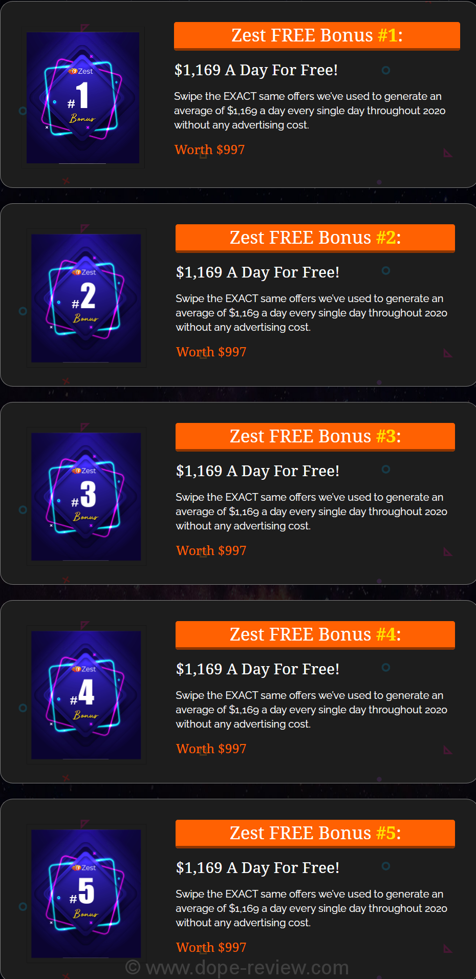 Zest App Bonus