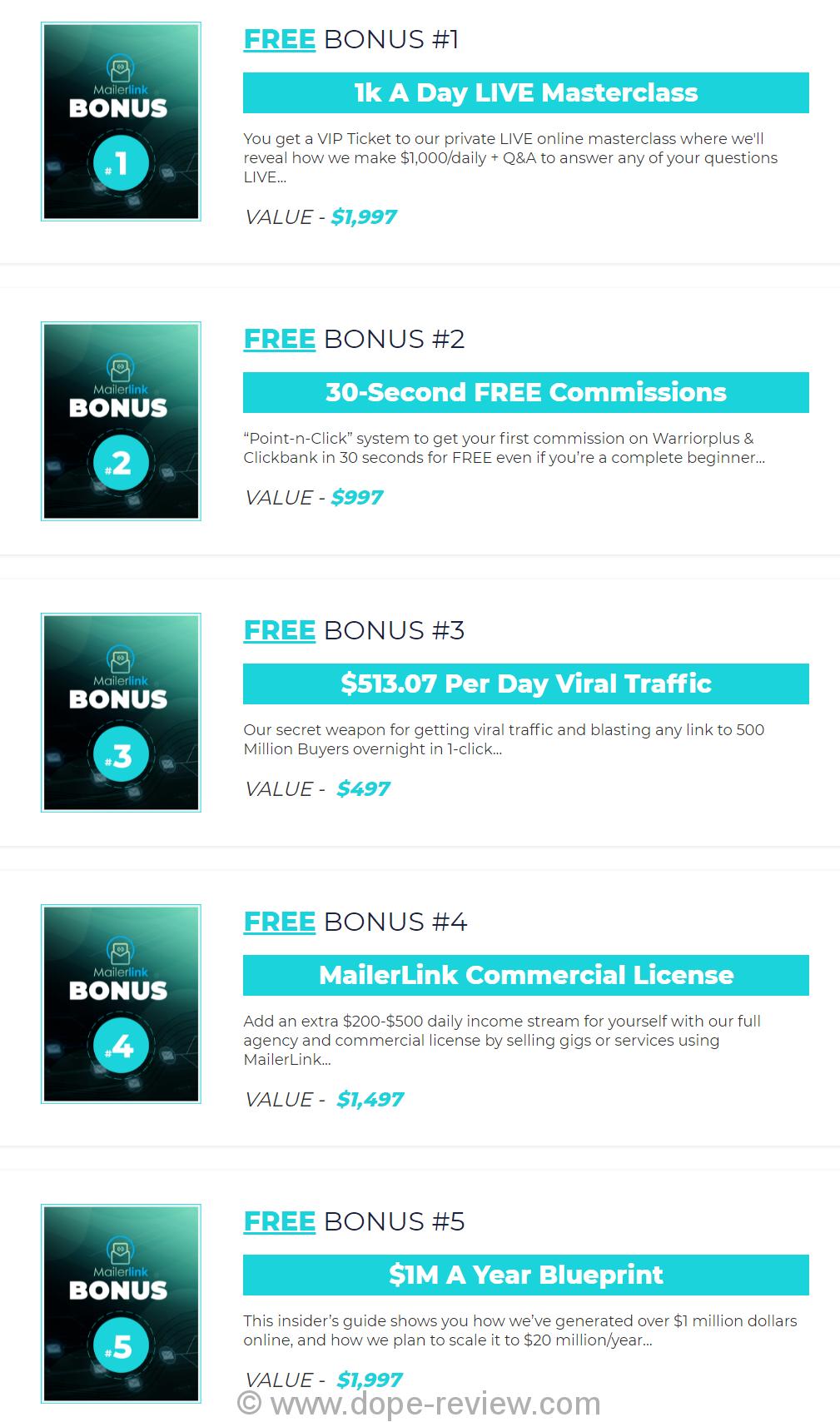 MailerLink Bonus