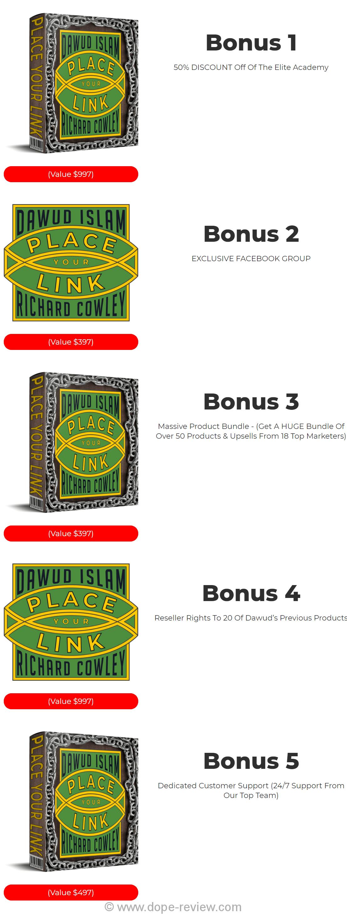 Place Your Link Bonus