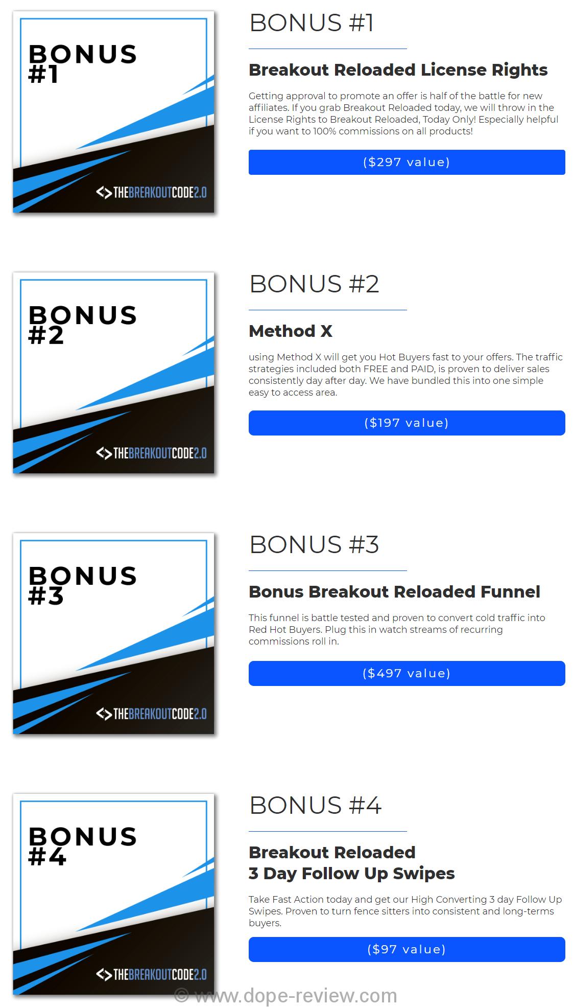 Breakout Reloaded Bonus