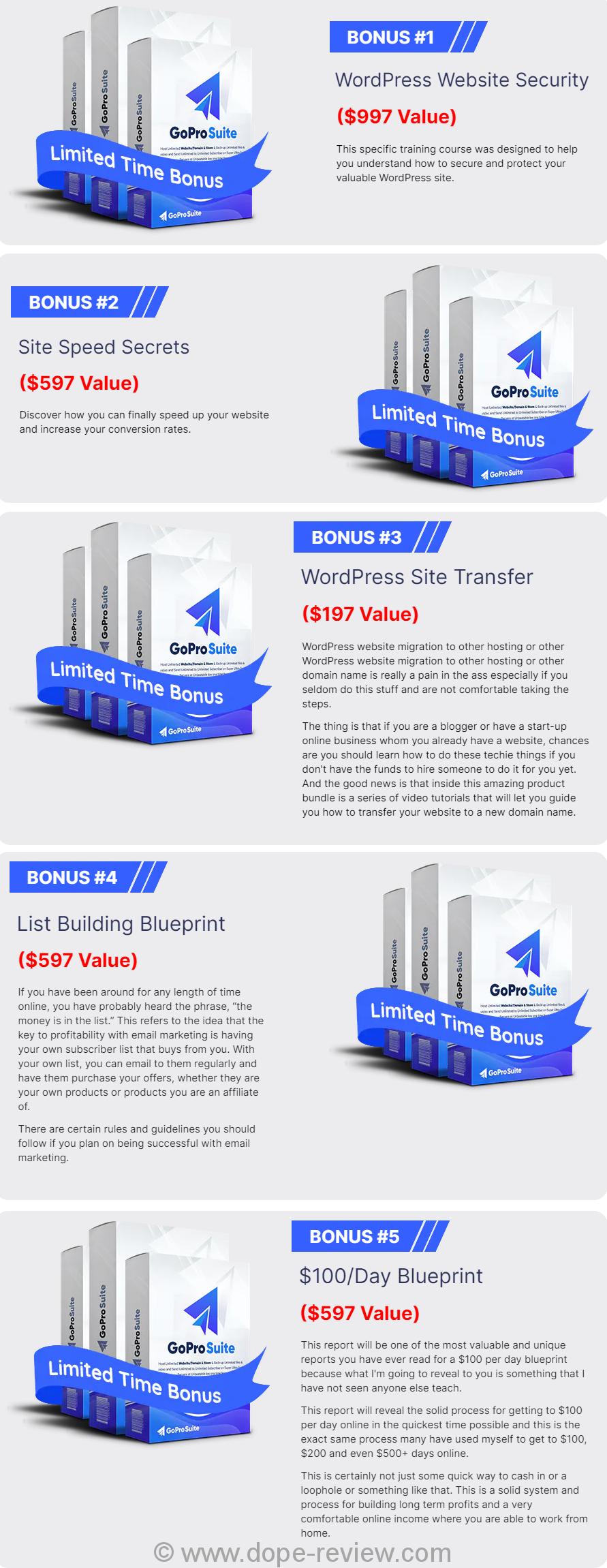 GoProSuite Bonus