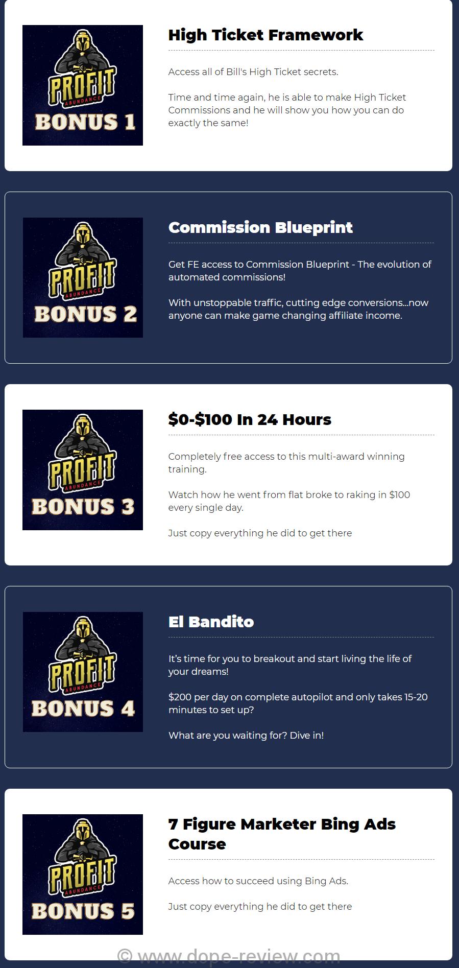 Profit Abudance Bonus