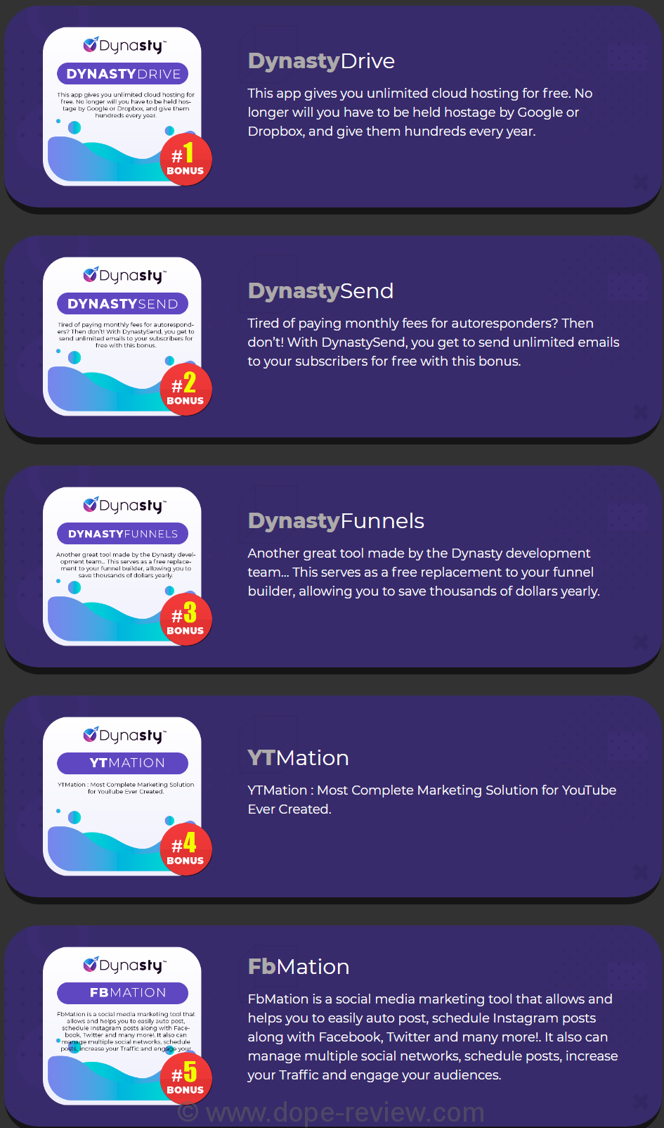 Dynasty App Bonus